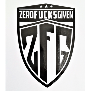 ZFGVN. Sticker blazon - black