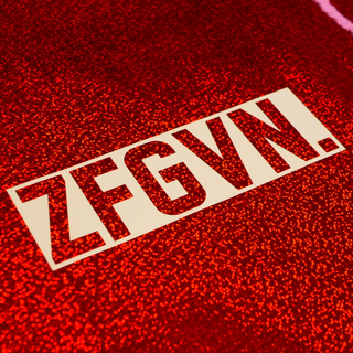 ZFGVN. Sticker statement - white